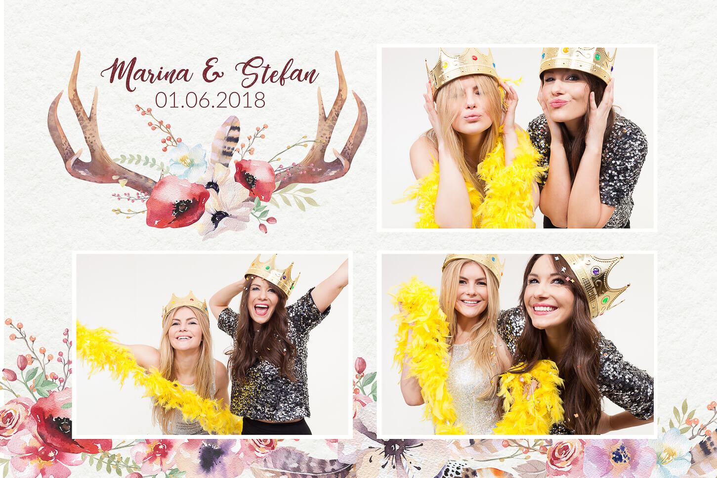 Fotobox photobooth hirsch boho videobooth layout gäste