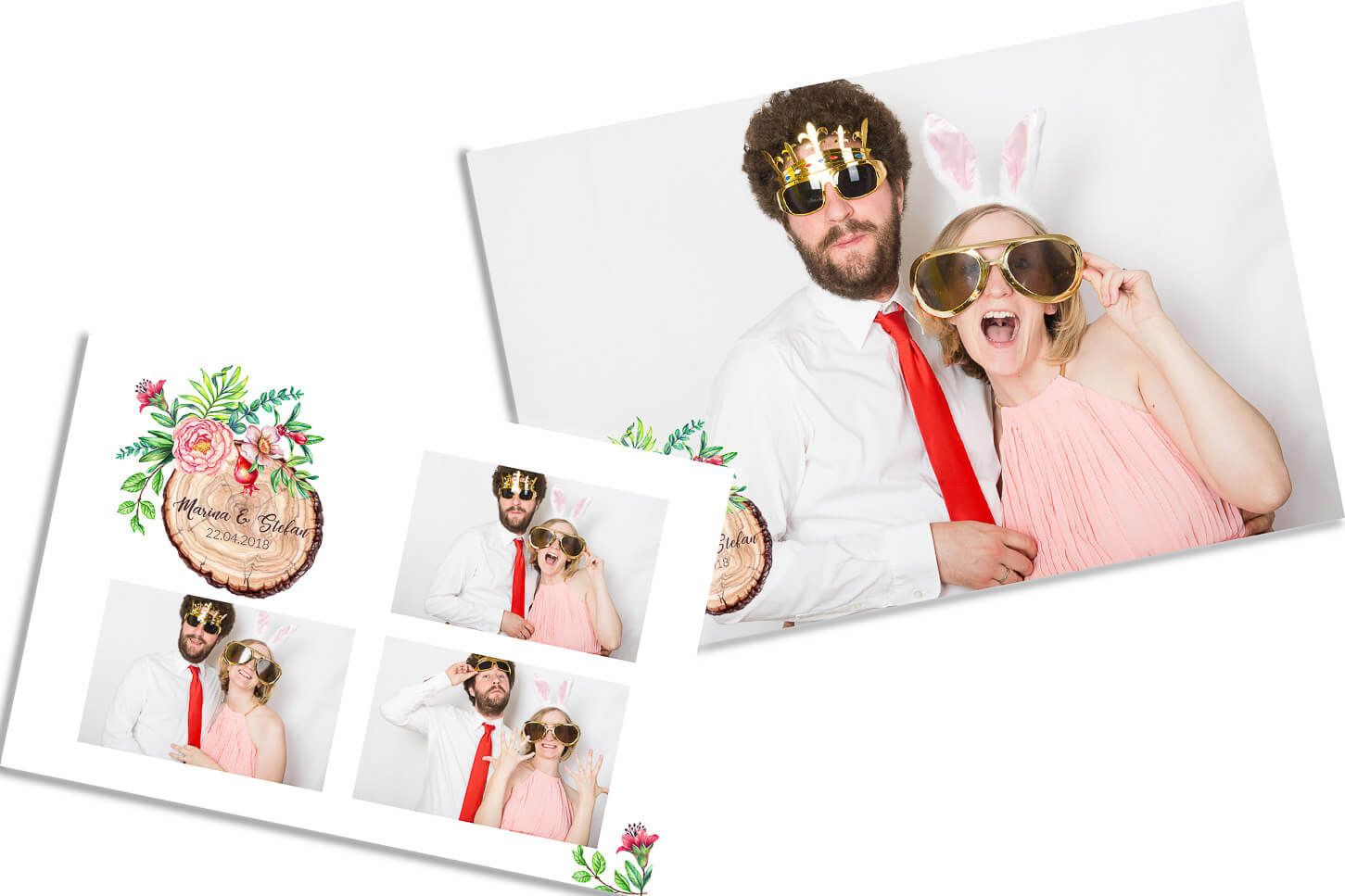 Fotobox photobooth videobooth layout hochzeitslogo